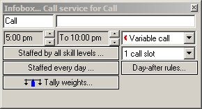 Call service infobox ... with